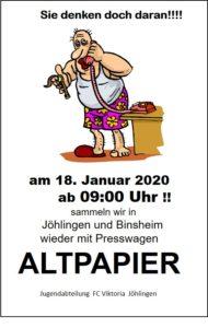 Altpapiersammlung @ Jöhlingen und Binsheim