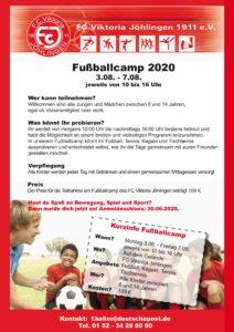 Jugendcamp 2020 @ Sportgelände FC Viktoria Jöhlingen