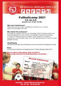 Jugendcamp 2021 beim FC @ FC Viktoria Jöhlingen